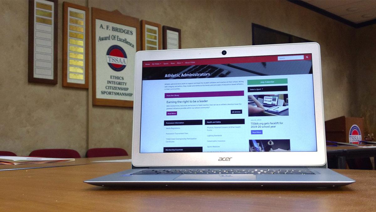 Computer viewing TSSAA website