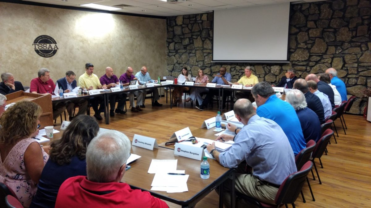 August 2019 Board of Control meeting in Hermitage