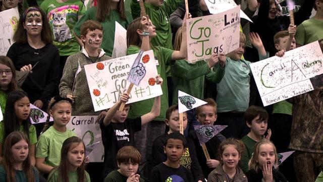 TCA crowd cheers on Carroll Academy