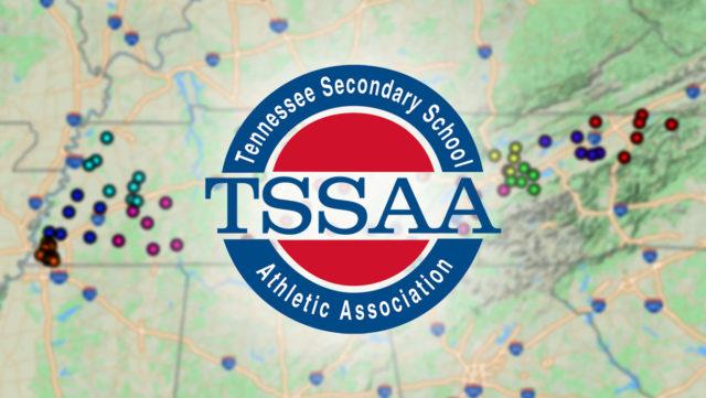 TSSAA Logo on Map