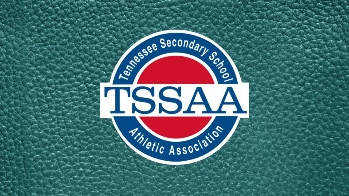 TSSAA Logo on Teal Dimples