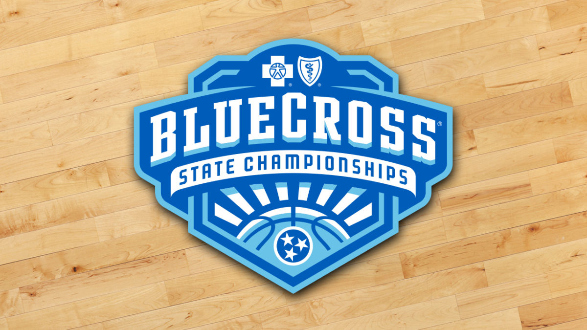 TSSAA BlueCross Basketball Championships Logo